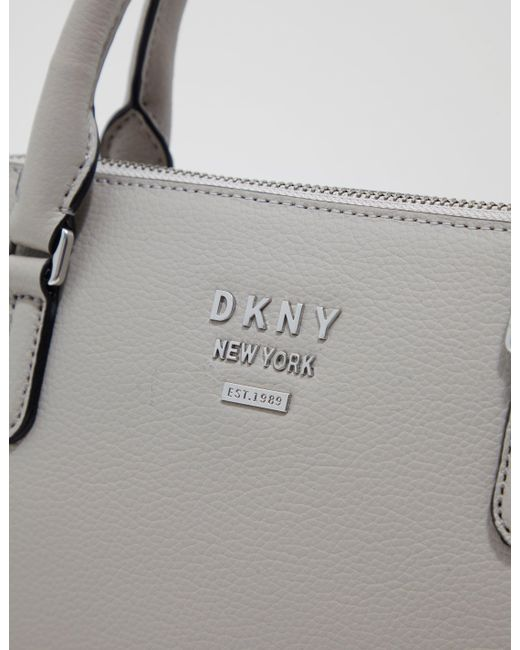6ce372bf68e5 DKNY Dome Satchel Bag Grey in Gray - Lyst