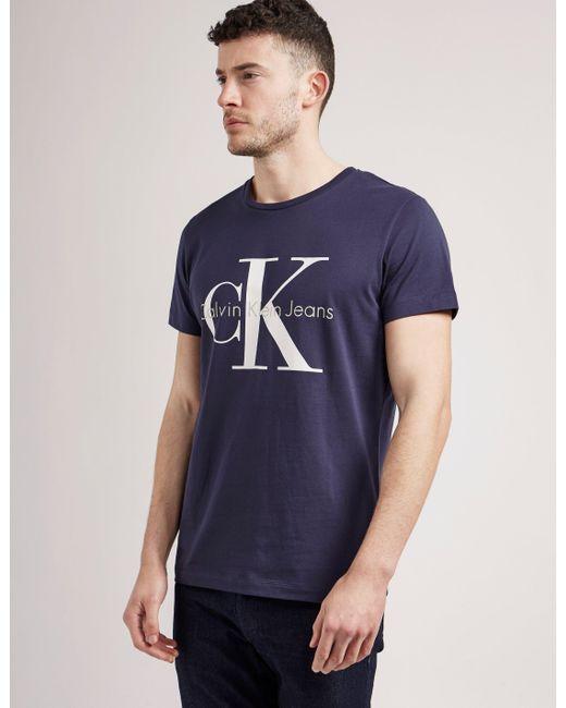 Calvin Klein | Blue True Icon Short Sleeve T-shirt for Men | Lyst
