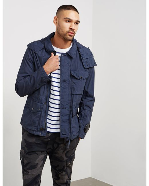 C P Company - Mens Three Layer Padded Jacket Navy Blue for Men - Lyst