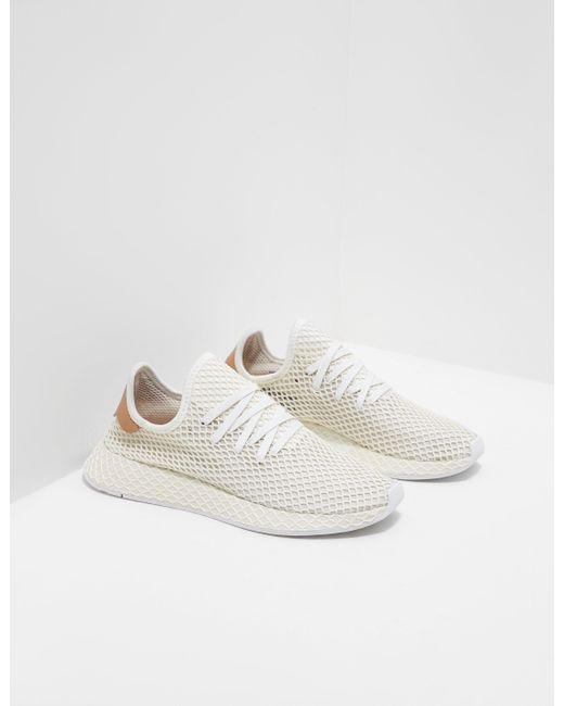 5c65351622bc7 adidas Originals Deerupt White in White for Men - Lyst