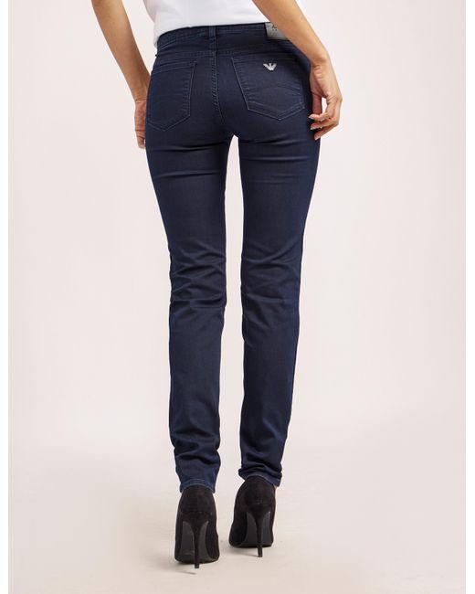 Armani Jeans   Blue J28 Mid Waist Jeans   Lyst