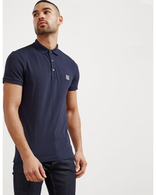 BOSS - Mens Passenger Short Sleeve Polo Shirt Navy Blue for Men - Lyst