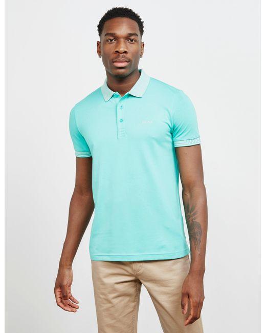 fe1429764 BOSS Paule Double Tip Short Sleeve Polo Shirt Green in Green for Men ...