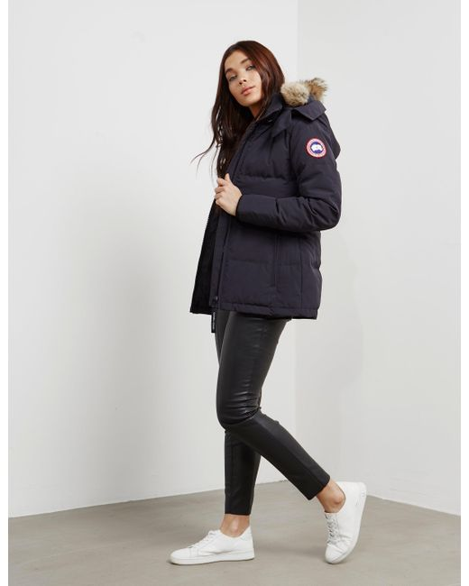Canada Goose - Womens Chelsea Parka Jacket Navy Blue - Lyst