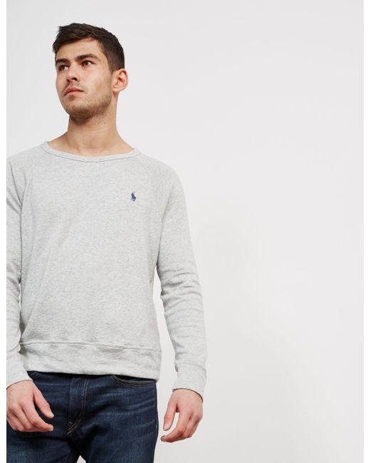 Polo Ralph Lauren - Gray Mens Terry Knit Jumper Grey for Men - Lyst