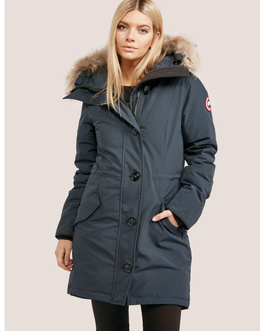 Canada Goose - Blue Womens Rossclair Padded Parka Jacket Ink - Lyst ...