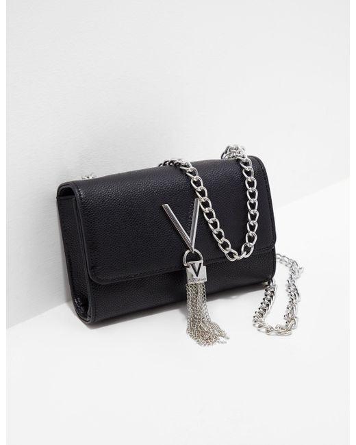 9d6572d4c55 Valentino By Mario Valentino - Divina Chain Shoulder Bag Black - Lyst ...
