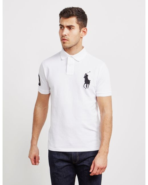 af03ad1c9990 Polo Ralph Lauren - Large Embroidered Logo Short Sleeve Polo Shirt White  for Men - Lyst ...