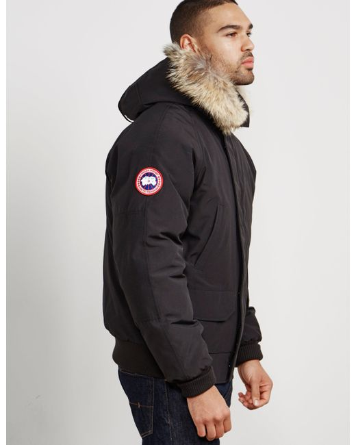 ... Canada Goose - Black Men's Chilliwack Bomber Jacket for Men ...