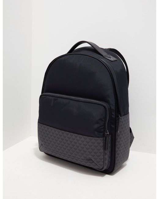 Lyst - Emporio Armani Mens Nylon Backpack Black in Black for Men 899ca79b6e
