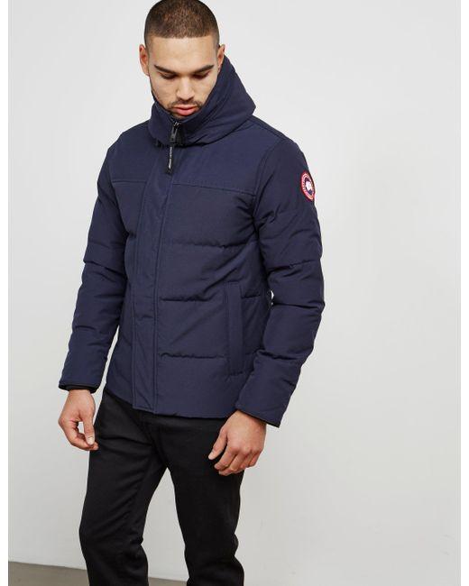 64c3395a24fa ... Canada Goose - Macmillan Padded Parka Jacket Blue for Men - Lyst ...