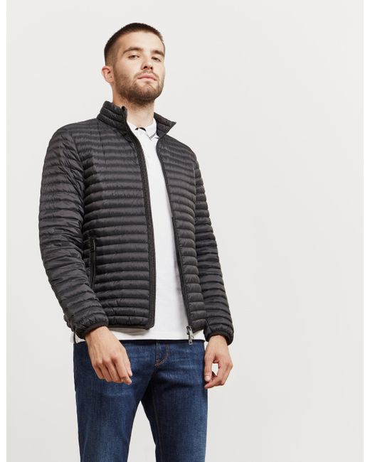 Emporio Armani - Mens Basic Quilted Blouson Jacket Black for Men - Lyst