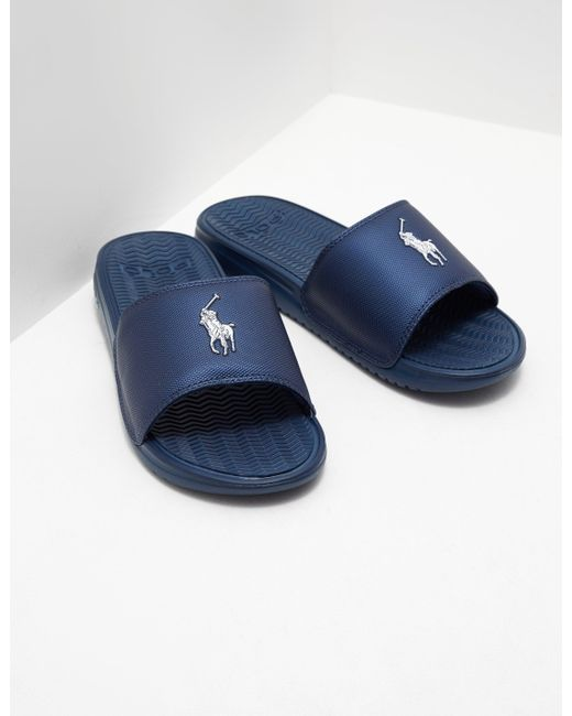 636dc4f028666b Polo Ralph Lauren Mens Rodwell Slides Navy Blue in Blue for Men - Lyst
