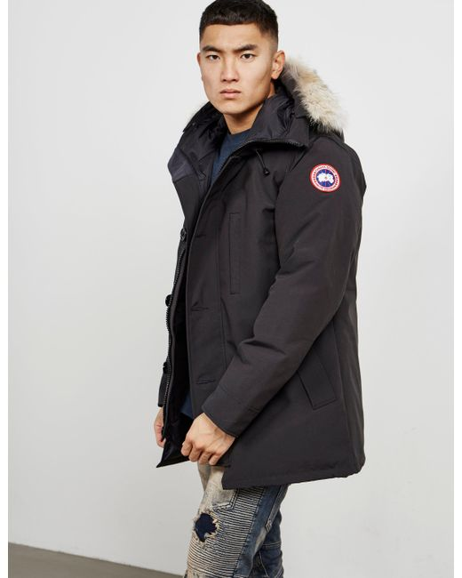 Canada Goose - Mens Chateau Padded Parka Jacket Black for Men - Lyst ...