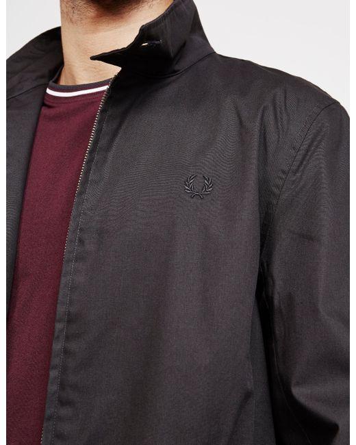 00ca353e58c6 Fred Perry Harrington Mac Jacket Black in Black for Men - Save 51 ...