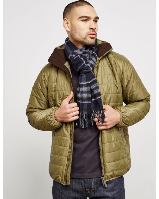 Barbour Lambswool Traction Scarf Navy Blue for men