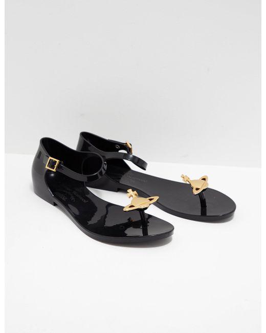 Melissa - Womens X Vivienne Westwood Anglomania Honey Sandal Black - Lyst  ... 728e54368