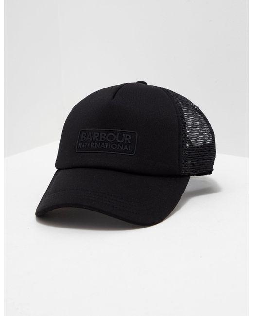 44dbb0184ca Barbour - Mens International Heli Trucker Cap Black for Men - Lyst ...