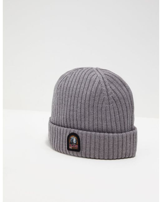 Parajumpers - Gray Mens Ribbed Beanie Grey for Men - Lyst