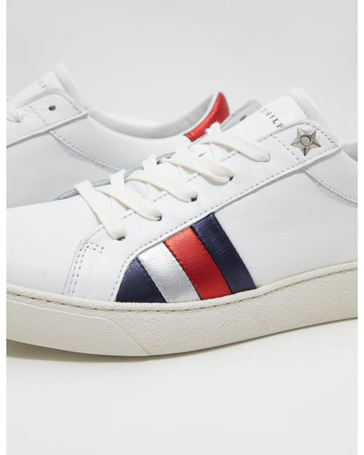 1469358dd ... Tommy Hilfiger - Iconic Sneaker - Online Exclusive White - Lyst ...