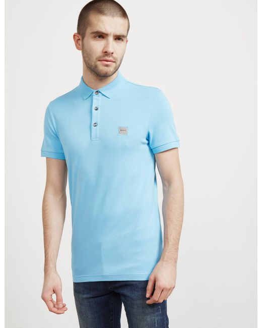 BOSS - Mens Passenger Short Sleeve Polo Shirt Blue for Men - Lyst