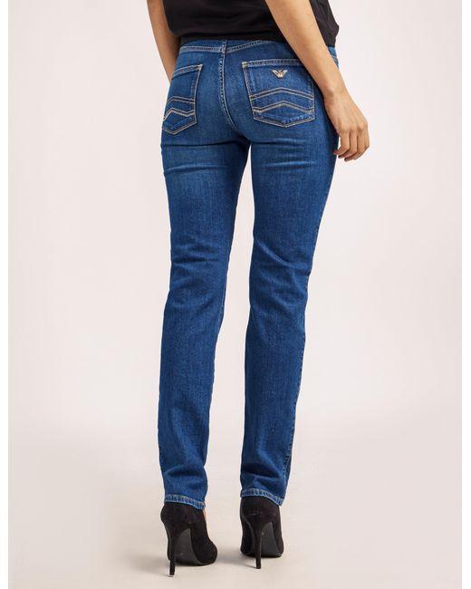 Armani Jeans   Blue J18 High Waist Jeans   Lyst