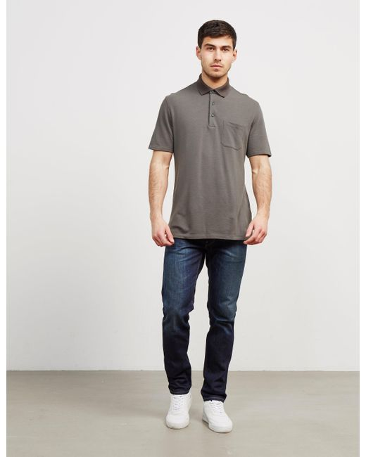 Z Zegna - Pocket Short Sleeve Polo Shirt Green for Men - Lyst