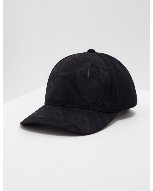 52eef95b7f7 Lyst - Boss Mens Poly Print Cap Black in Black for Men
