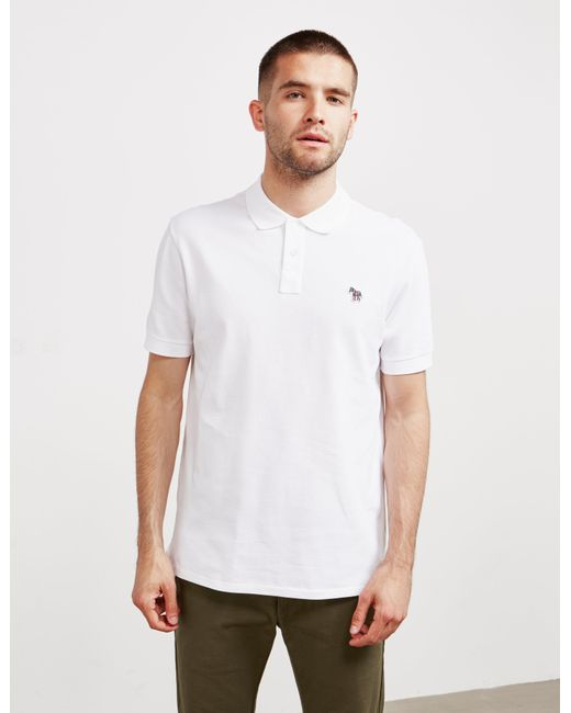 57ed2980d PS by Paul Smith - Zebra Short Sleeve Polo Shirt White for Men - Lyst ...