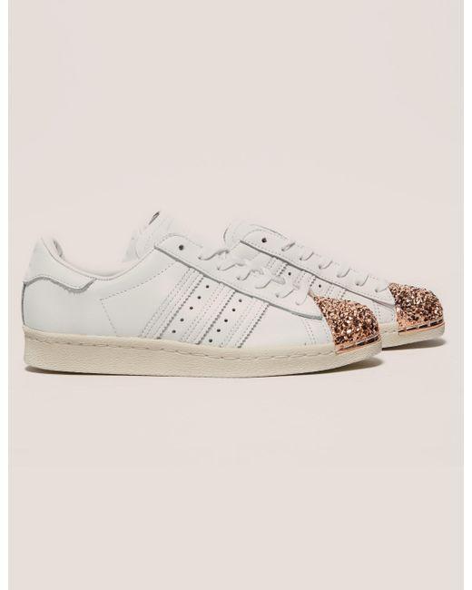 Mejor adidas Originals  mujer superstar 80s metal Toe zapatos white