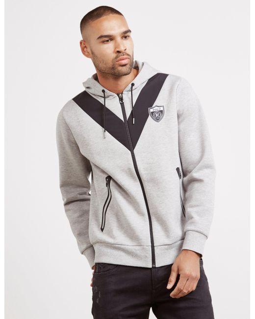 d28e04a920f0 Polo Ralph Lauren - Gray Shield Logo Full Zip Hoodie Grey for Men - Lyst ...