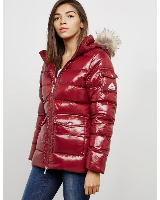Pyrenex - Womens Authentic Padded Shiny Jacket Red - Lyst
