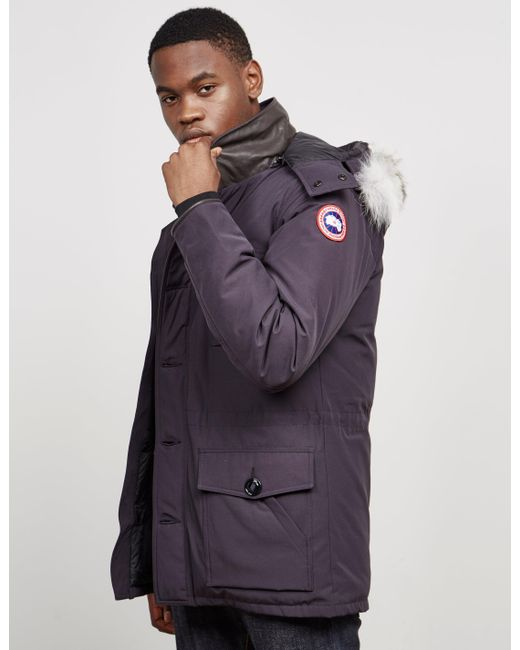 Canada Goose - Mens Banff Padded Parka Jacket Navy Blue for Men - Lyst ...