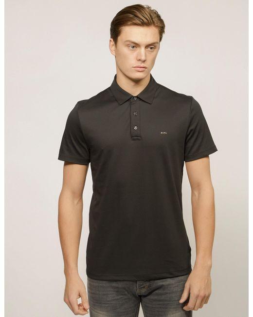 af110d85 Michael Kors - Mens Sleek Short Sleeve Polo Shirt Black for Men - Lyst ...
