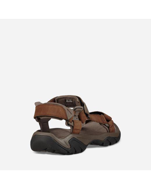 9e2ce75993b4 ... Teva - Brown Terra Fi 5 Universal Leather for Men - Lyst ...