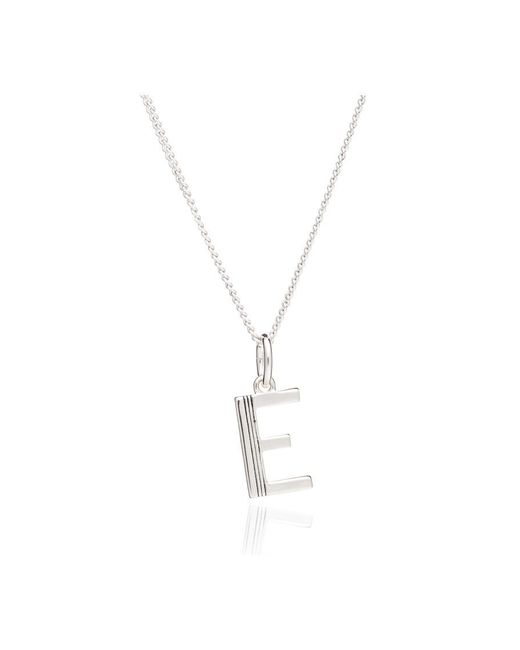 Rachel Jackson - Metallic This Is Me 'e' Alphabet Necklace - Lyst