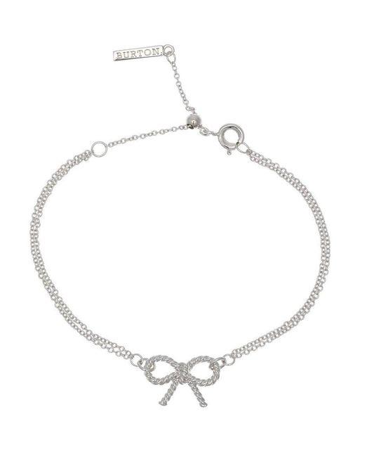 Olivia Burton   Metallic Vintage Bow Sterling Silver Bracelet   Lyst