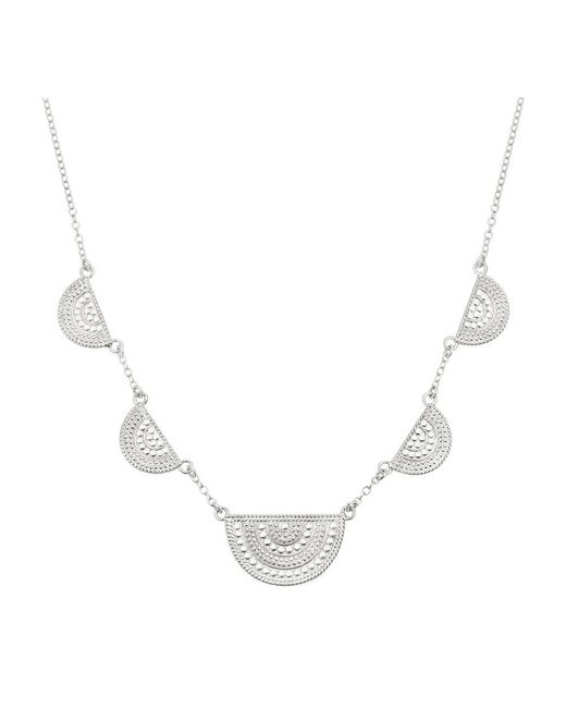 Anna Beck - Metallic Half Moon Divided Station Necklace - Lyst