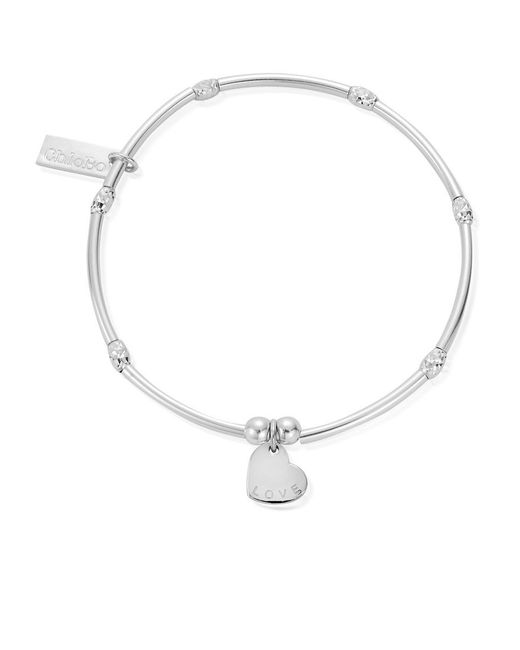 ChloBo - Metallic Newbies Mini Noodle Sparkle Rice Love Heart Bracelet - Lyst