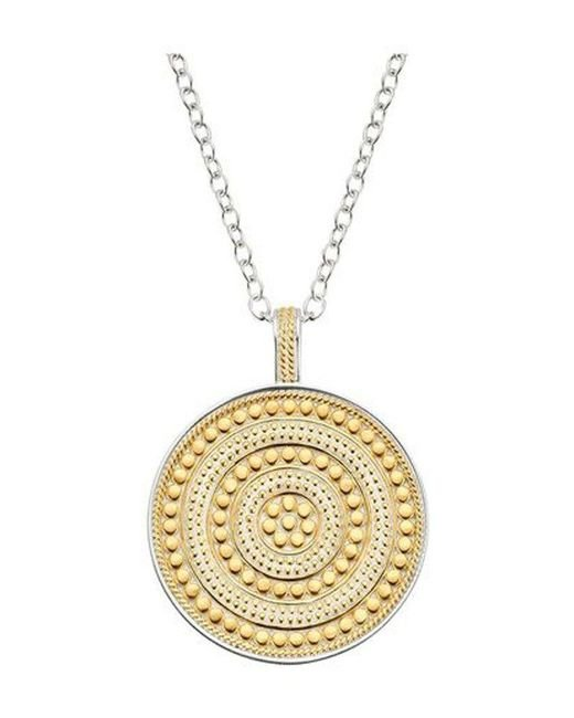 Anna Beck - Metallic Beaded Reversible Circle Pendant Necklace - Lyst