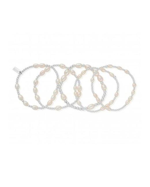 ChloBo | Metallic Stack Of 5 Random Bracelets | Lyst