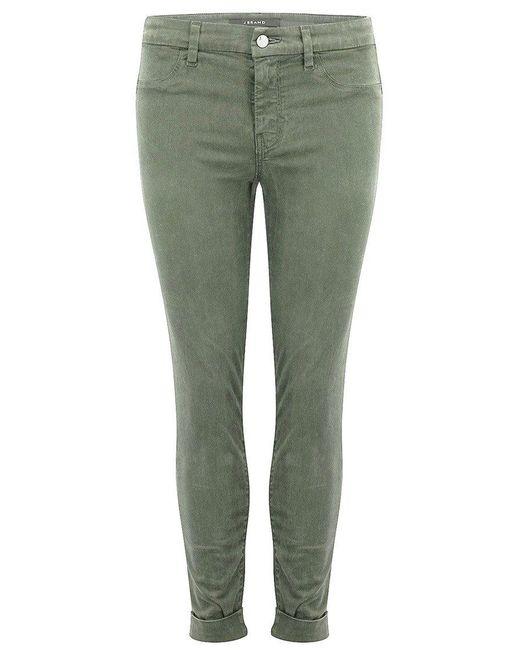 J Brand - Gray Anja Clean Cuffed Crop Jeans - Lyst