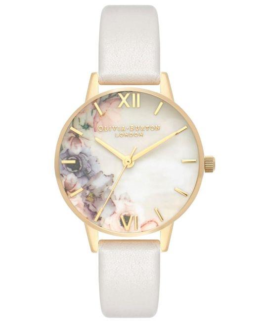 Olivia Burton - Metallic Watercolour Florals Midi Dial Watch - Lyst