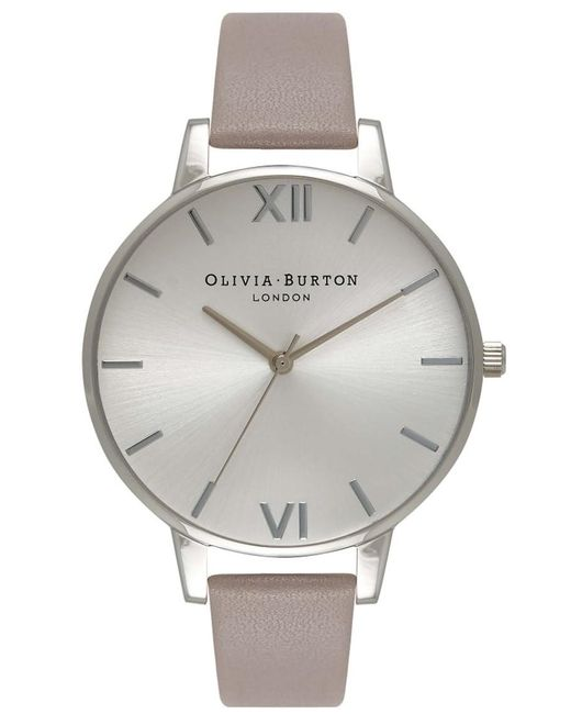 Olivia Burton - Gray Big Dial Watch - Lyst