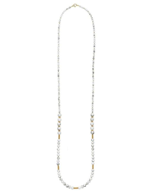 Anna Beck - Metallic White Howlite Beaded Necklace - Lyst