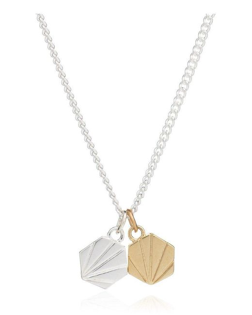 Rachel Jackson - Metallic Good Vibes Hexagon Necklace - Lyst