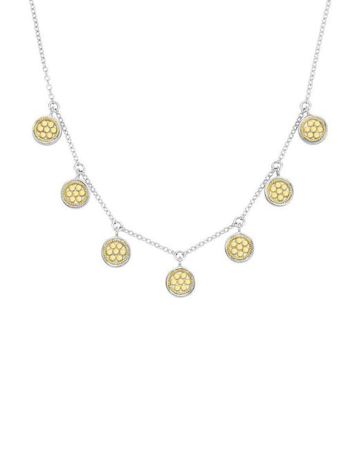 Anna Beck - Metallic Mini Disc Charm Necklace - Lyst
