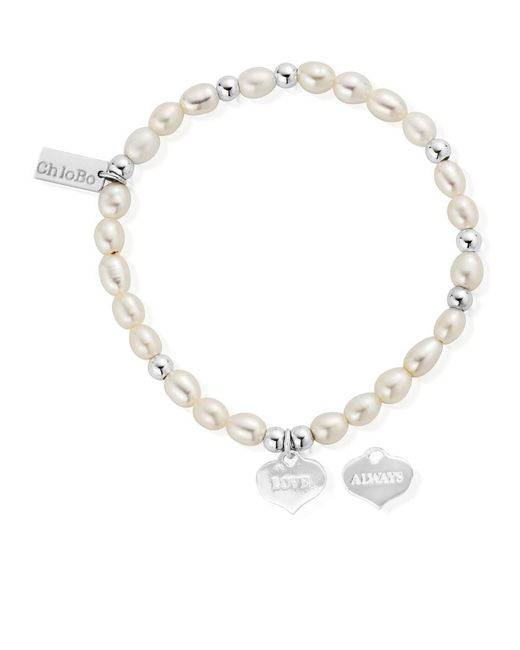 ChloBo - Metallic Mini Pearl Love Always Bracelet - Lyst