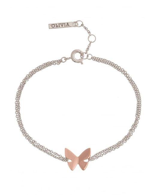 Olivia Burton - Metallic Social Butterfly Chain Bracelet - Lyst