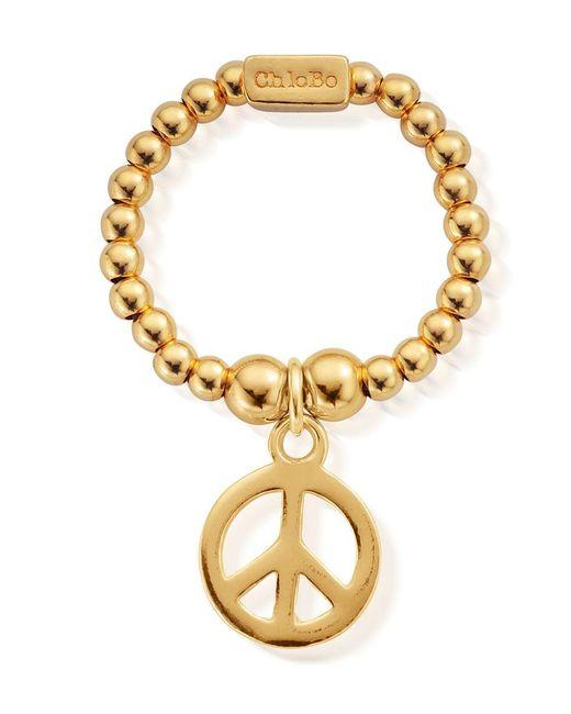 ChloBo - Metallic Mini Ball Peace Ring - Lyst